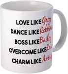 Grey's Anatomy Character Traits Mug