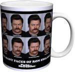 Parks and Recreation The Many Faces Of Ron Swanson Mug