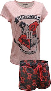 Harry Potter Hogwarts Shorts and Shirt Sleep Set