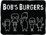 Bob's Burgers Black Silhouette Blanket
