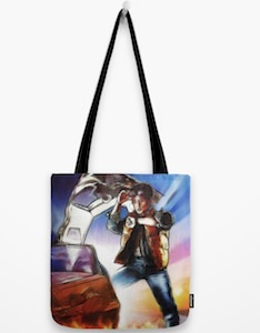 Back To The Future Movie Poster Tote Bag