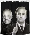 Better Call Saul Jimmy And Mike Shower Curtain