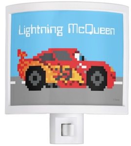 8Bit Lightning McQueen Night Light