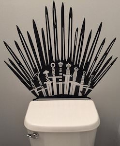 Toilet Iron Throne Wall Decal