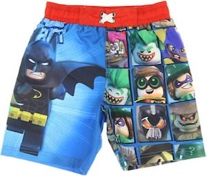 DC Comics LEGO Batman Swim Shorts for kids