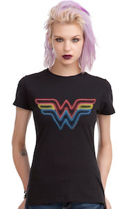 DC Comics Wonder Woman Neon Logo T-Shirt