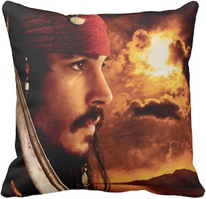 Pirates Of The Caribbean Jack Sparrow Pillow