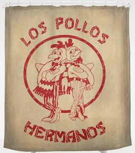 Vintage Los Pollos Hermanos Shower Curtain