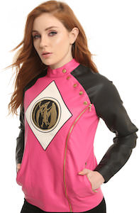 Women's Pink Power Rangers Moto Jacket