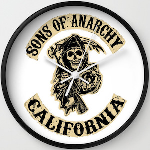 Sons Of Anarchy Reaper Logo Wall Clock