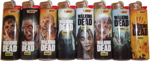 BIC The Walking Dead Lighters (set of 8)