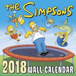2018 The Simpsons Wall Calendar