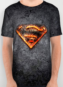 Burning Superman Logo T-Shirt
