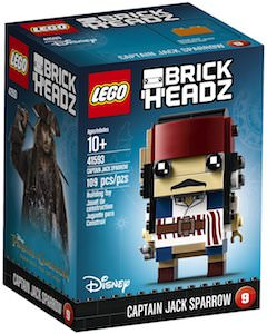 Captain Jack Sparrow LEGO BrickHeadz Figurine