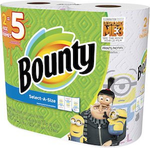 Despicable Me Paper Towels With Minions On It