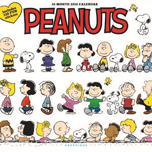 2018 Peanuts Happiness Is Wall Calendar