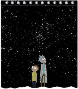 Rick And Morty Shower Curtain