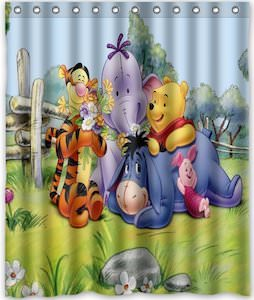 Winnie the Pooh And Friends Shower Curtain