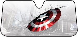 Captain America Shield Car Sun Shade