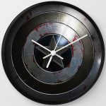 Captain America Shield Wall Clock