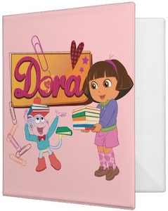 Dora The Explorer School Supplies Binder