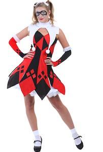 Harley Quinn Jester Costume Dress