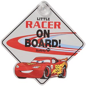 Lightning McQueen Baby On Board Sign