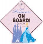 Disney Princess Cinderella Baby On Board Sign