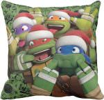 TMNT Funny Faces Christmas Pillow