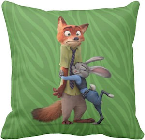 Zootopia Nick And Judy Throw Pillow