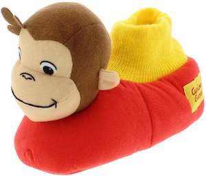 Little Kids Curious George Sock Slippers