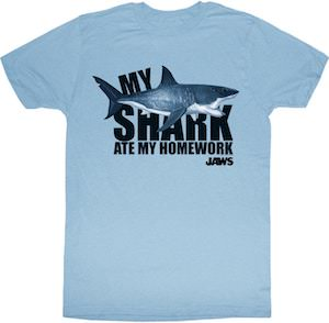 Jaws My Shark Ate My Homework T-Shirt