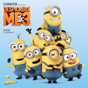 2018 Despicable Me 3 Wall Calendar