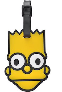 Bart Simpson Luggage Tag