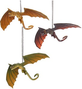 3 Dragons Ornaments From Game of Thrones