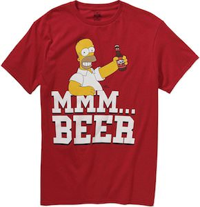 Homer Simpson Beer T-Shirt