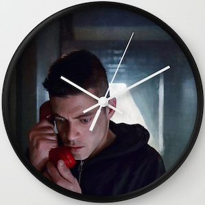 Elliot Alderson Wall Clock