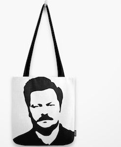 Parks And Recreation Ron Swanson Tote Bag