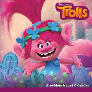 2018 Trolls Wall Calendar