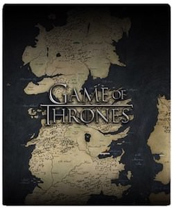 Game of Thrones Map Throw Blanket