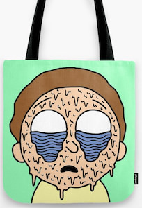 Melting Morty Tote Bag