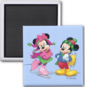 Mickey And Minnie Ice Skating Magnet