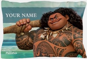Disney Moana Maui Personalized Pillow Case