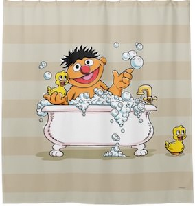 Ernie In The Bath Shower Curtain