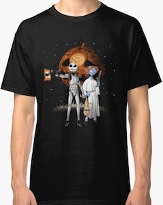 The Nightmare Before Christmas Meets Star Wars Halloween T-Shirt
