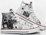 The Walking Dead Rick And Daryl High Top Sneakers