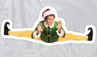 Buddy Elf Christmas Sticker