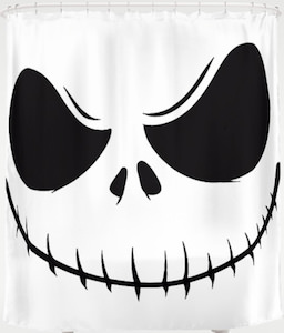 The Jack Skellington Face Shower Curtain