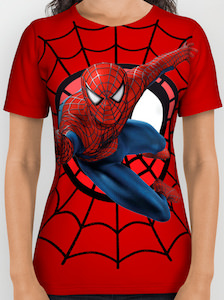 Red Spider-Man All Over T-Shirt