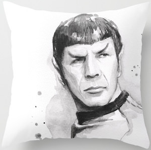 Spock Portrait Pillow